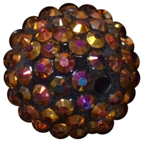 20mm Bronze Rhinestone Bubblegum Beads