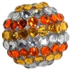 20mm Candy Corn Rhinestone Bubblegum Beads