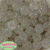 20mm Clear Rhinestone Bubblegum Beads