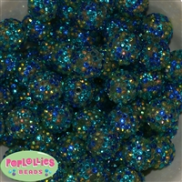 20mm Under the Sea Confetti Rhinestone Bubblegum Beads