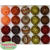 20mm Autumn Rhinestone Bubblegum Bead Mix