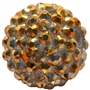 Gold Metallic Rhinestone