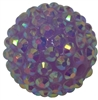 20mm Lavender Rhinestone Bubblegum Beads
