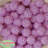 20mm Light Lavender Rhinestone Bubblegum Beads Bulk