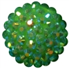 20mm Lime Green Rhinestone Bubblegum Beads
