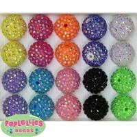 20mm Rainbow Rhinestone Bead Mix