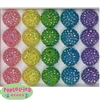 20mm Pastel Mix Rhinestone Bubblegum Bead Mix