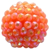 20mm Orange Rhinestone Bubblegum Beads
