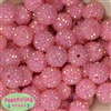 20mm Pink Rhinestone Bubblegum Beads