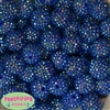 20mm Royal Blue Rhinestone Bubblegum Beads