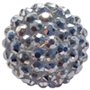 20mm Silver Rhinestone Bubblegum Beads