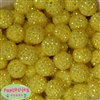 20mm Yellow Rhinestone Bubblegum Beads