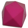 20mm Solid Hot Pink Cube Bubblegum Bead