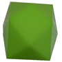 20mm Solid Lime Green Cube Bubblegum Bead