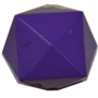 20mm Solid Purple Cube Bubblegum Bead