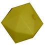 20mm Solid Yellow Cube Bubblegum Bead