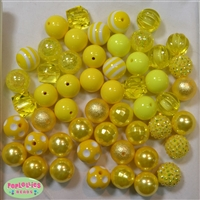 52 pc. Set of Yellow Bubblegum Beads