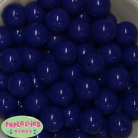 20mm Admiral Blue Bubblegum Beads