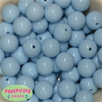 20mm Baby Blue Bubblegum Beads Bulk