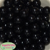 20mm Black Acrylic Bubblegum Beads