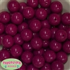 20mm Boysenberry Acrylic Bubblegum Beads Bulk