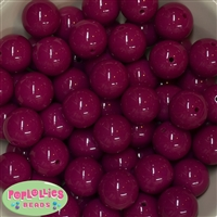 20mm Boysenberry Bubblegum Beads Bulk