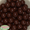 20mm Brown Acrylic Bubblegum Beads