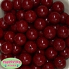 20mm Burgundy Bubblegum Beads