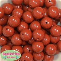 20mm Caramel Acrylic Bubblegum Beads