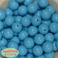 20mm Caribbean Blue Bubblegum Beads 20pc