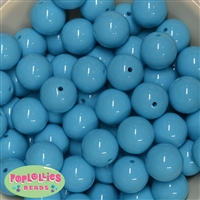 20mm Caribbean Blue Acrylic Bubblegum Beads Bulk
