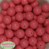 20mm Coral Acrylic Bubblegum Beads