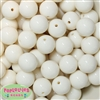 20mm Cream Acrylic Bubblegum Beads