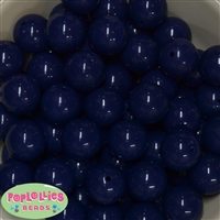 20mm Dark Navy Blue Acrylic Bubblegum Beads Bulk