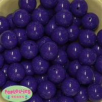 20mm Dark Purple Acrylic Bubblegum Beads