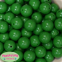 Bulk 20mm Emerald Green Solid Beads