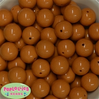 20mm Gold Bubblegum Beads Bulk