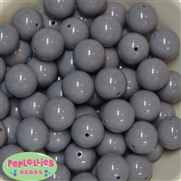20mm Gray Acrylic Bubblegum Beads