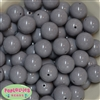 20mm Gray Acrylic Bubblegum Beads Bulk