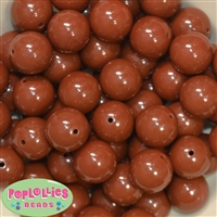 20mm Latte Brown Bubblegum Beads
