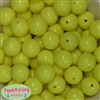 20mm Lemon Yellow Acrylic Bubblegum Beads