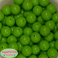 20mm Lime Bubblegum Beads