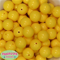 20mm Mickey Yellow Bubblegum Beads
