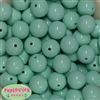 20mm Mint Acrylic Bubblegum Beads