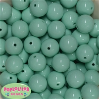 20mm Mint Bubblegum Beads