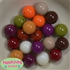 20mm Mix 1 Assorted Acrylic  Bubblegum Beads
