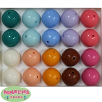20mm Mix Color Bubblegum Beads 2