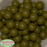 20mm Olive Acrylic Bubblegum Beads