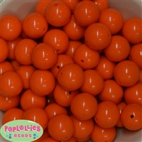 20mm Orange Bubblegum Beads