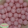 20mm Pale Pink Acrylic Bubblegum Beads